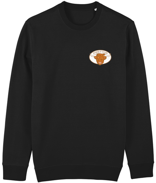 Highland Cow Unisex Sweatshirt in Black
