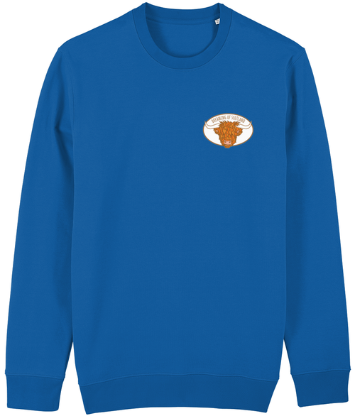 Highland Cow Unisex Sweatshirt in Blue