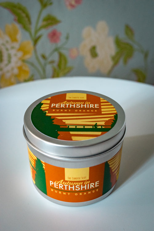 Autumn in Perthshire Scented Candle - Burnt Orange