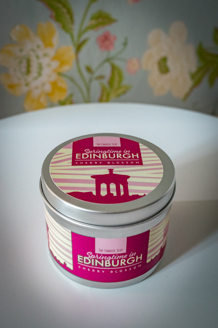 Springtime in Edinburgh Scented Candle - Cherry Blossom