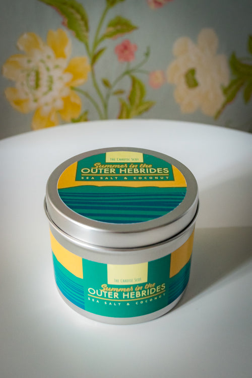 Summer in the Outer Hebrides Scented Candle - Sea Salt + Coconut