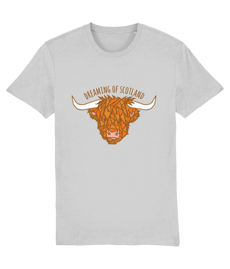 Highland Cow Unisex T-Shirt in Grey