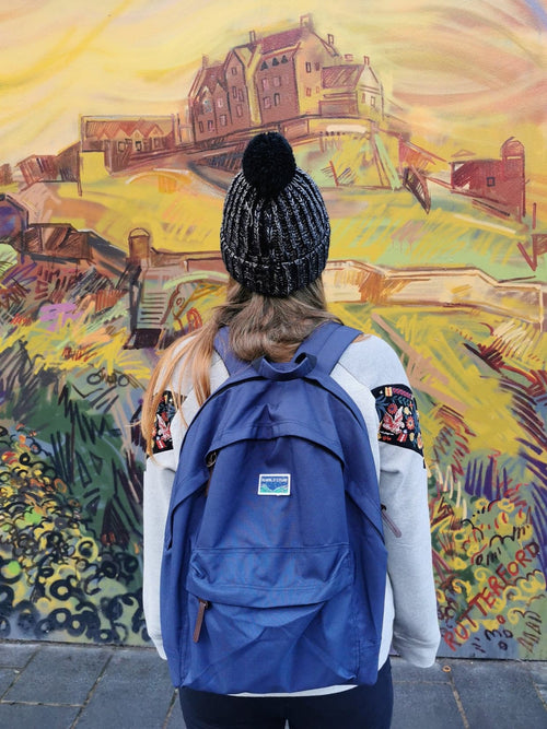Dreaming of Scotland Laptop Backpack in Navy