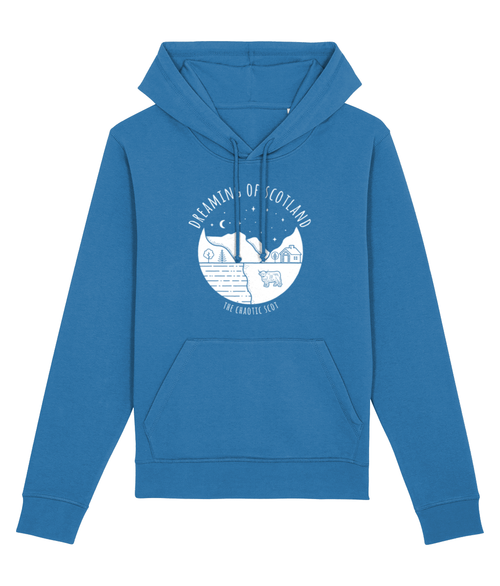 Dreaming of Scotland Unisex Hoodie in Blue