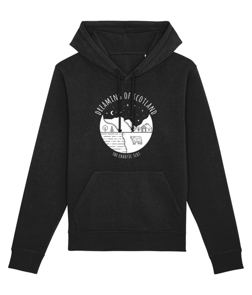 Dreaming of Scotland Unisex Hoodie in Black