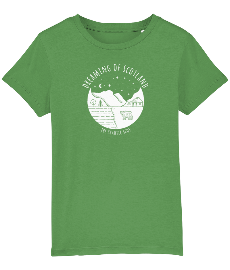 Dreaming of Scotland Kids T-Shirt in Green