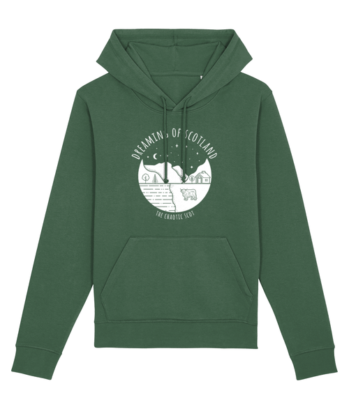 Dreaming of Scotland Unisex Hoodie in Green