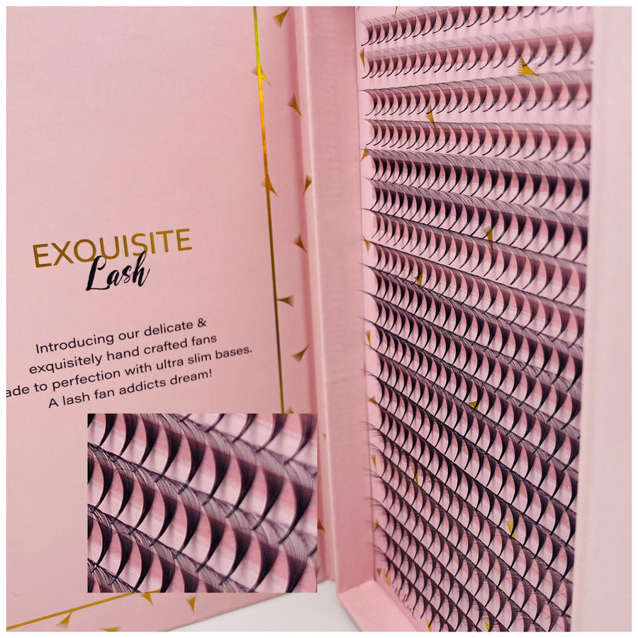 Exquisite 14D Volume 0.03 PreMade Fans - Exquisite Lash