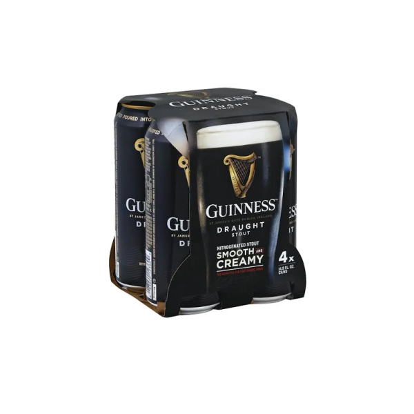 Guinness Draught - 4 / 14.9 Oz Can Alcohol