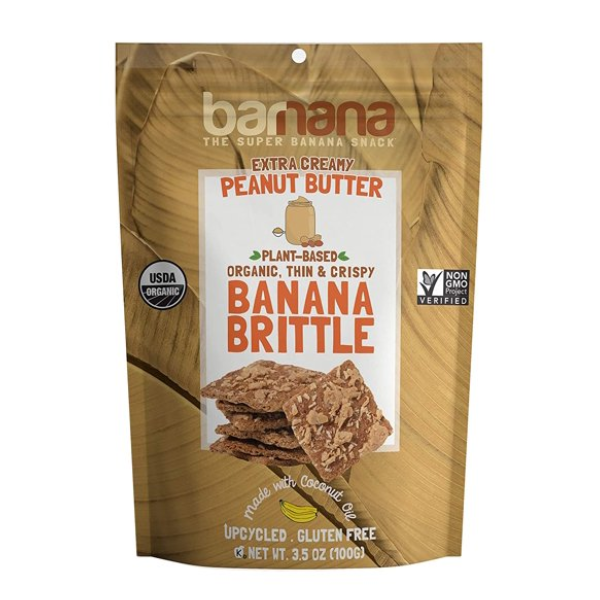Banana Brittle, Peanut Butter - 3.5 Oz Bag