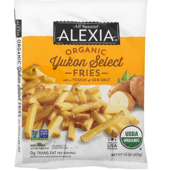 Organic Fries, Yukon, Sea Salt - 15 Oz Bag