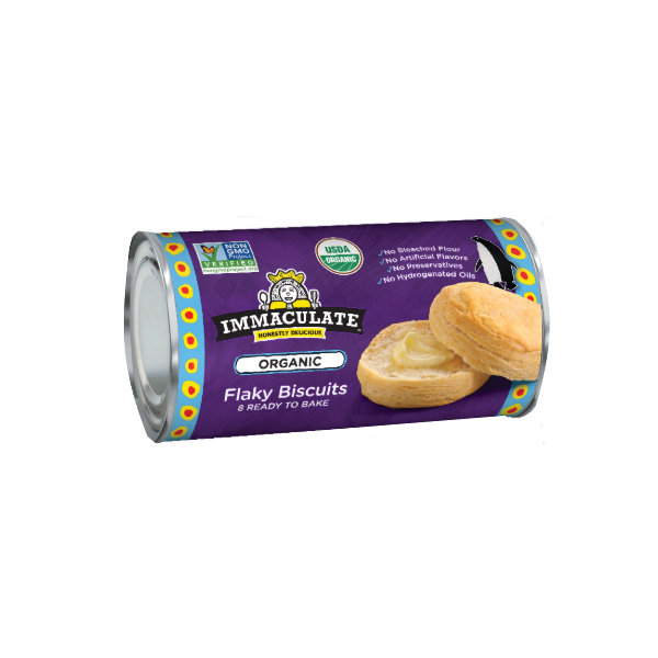 Organic Biscuits, Flaky - 16 Oz Roll