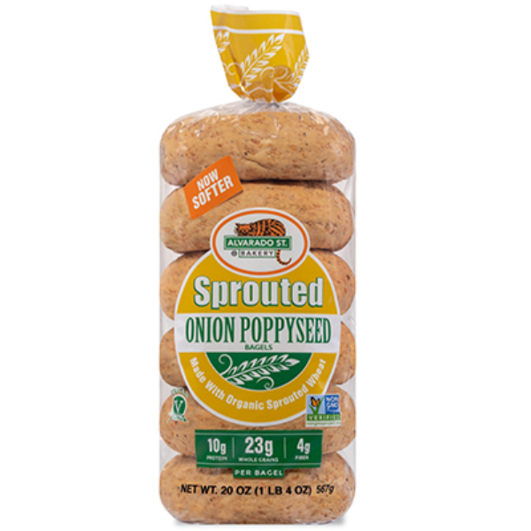 Bagel, Sprouted Wheat + Onion - 20 Oz Bag