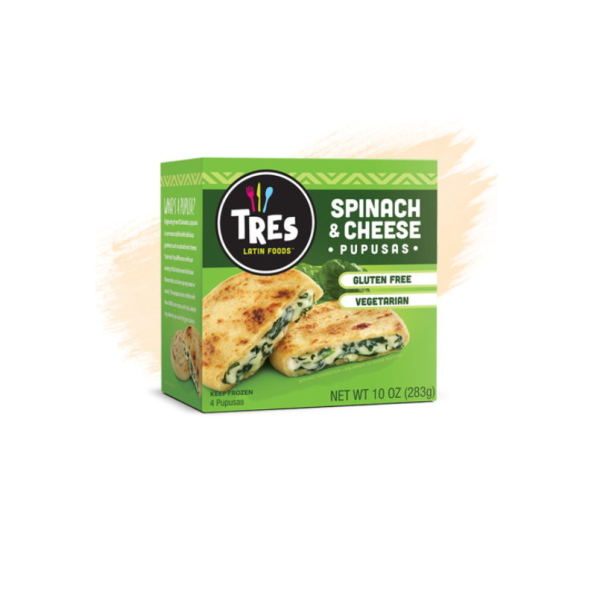 Pupusa Spinach And Cheese - 2.5 Oz Box Frozen