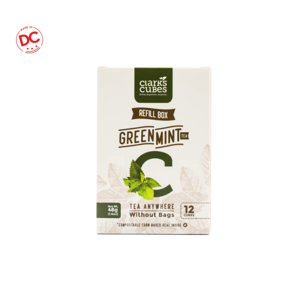 Refill Box Green Tea Mint - 12 Ct Shelf Stable Grocery