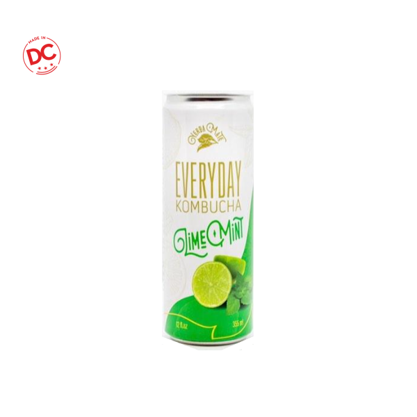 Sparkling Kombucha Lime Mint - 12 Oz Can Rtd Beverage