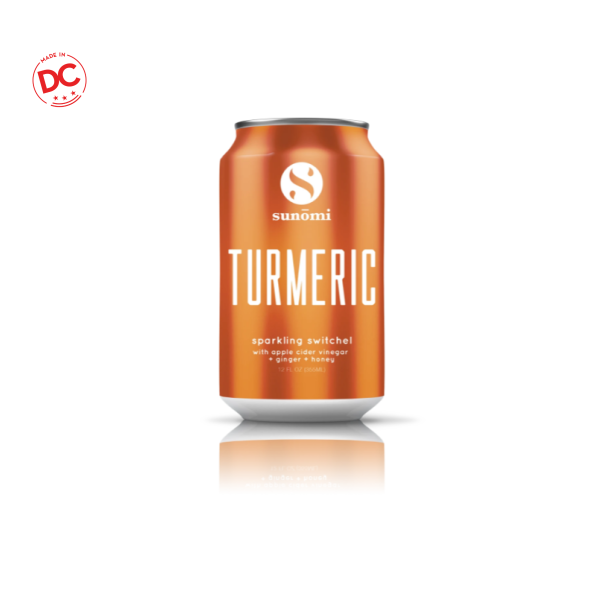 Turmeric Sparkling Switchel - 12 Oz Can Rtd Beverage