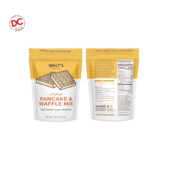 Waffle Mix - 20 Oz Pouch Shelf Stable Grocery