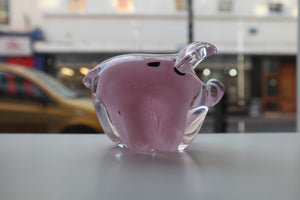 handmade glass pig