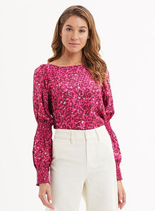 Luna Smocked Sleeve Blouse