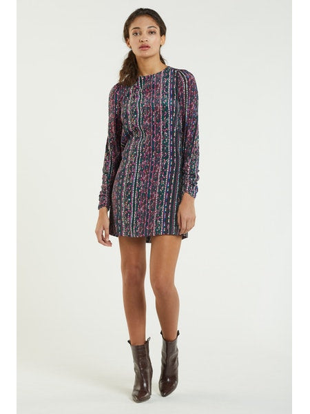 Lexi Ruched Sleeve Dress