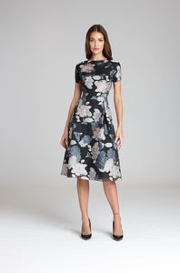 Printed Organza Dress
