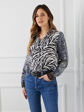 Load image into Gallery viewer, Mixed Print Silk Shirt