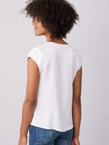 Silk Front Pocket Top
