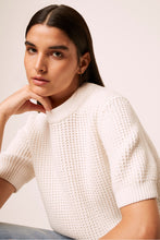 Load image into Gallery viewer, Luna Waffle Knit Short Sleeve Sweater