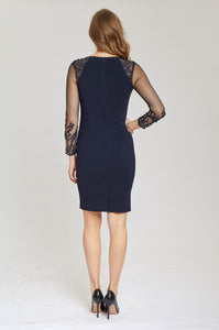 Illusion Sleeve Dress