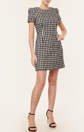 Houndstooth Tweed Dress