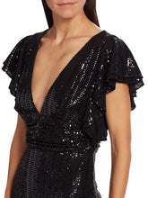 Load image into Gallery viewer, Sequin Flutter Sleeve Dress