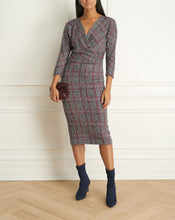 Load image into Gallery viewer, Plaid Wrap Dress