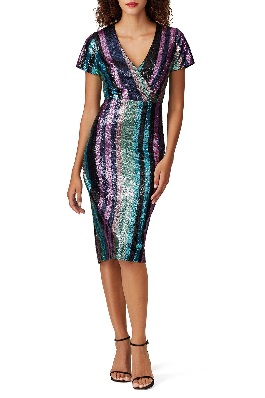 Stripe Sequin Sheath