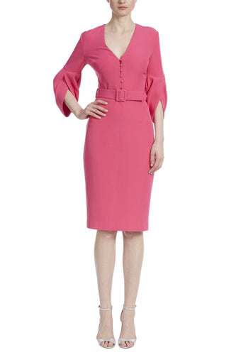 Tulip Sleeve Belted Dress