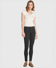 Load image into Gallery viewer, Mid-Rise Skinny - Charcoal Python