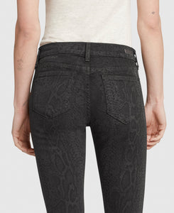 Mid-Rise Skinny - Charcoal Python