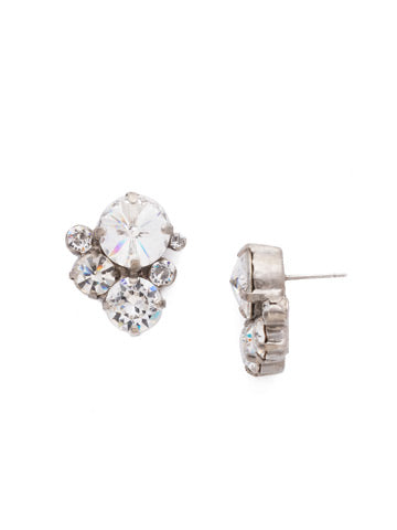 Crystal Assorted Rounds Post Earring