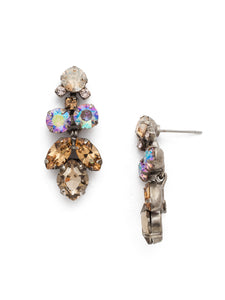 Petite Crystal Lotus Flower Earring in Mirage