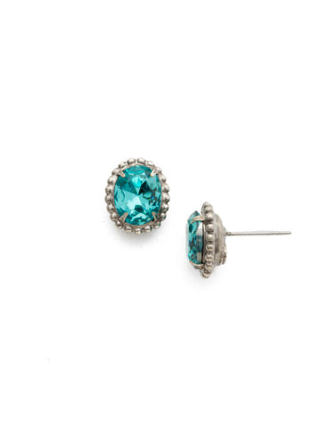 Oval-Cut Solitaire Earring