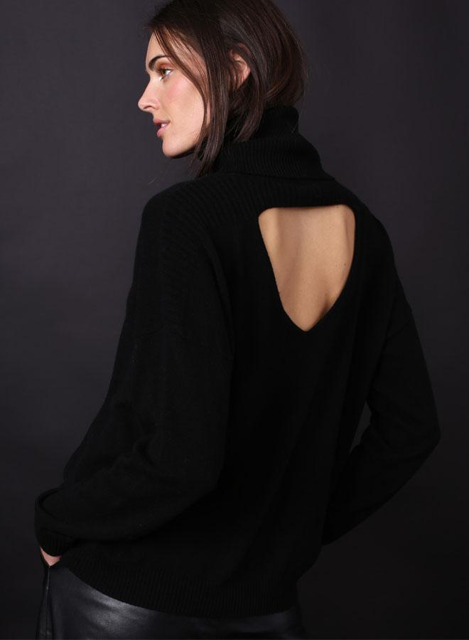 Cashmere Open Back
