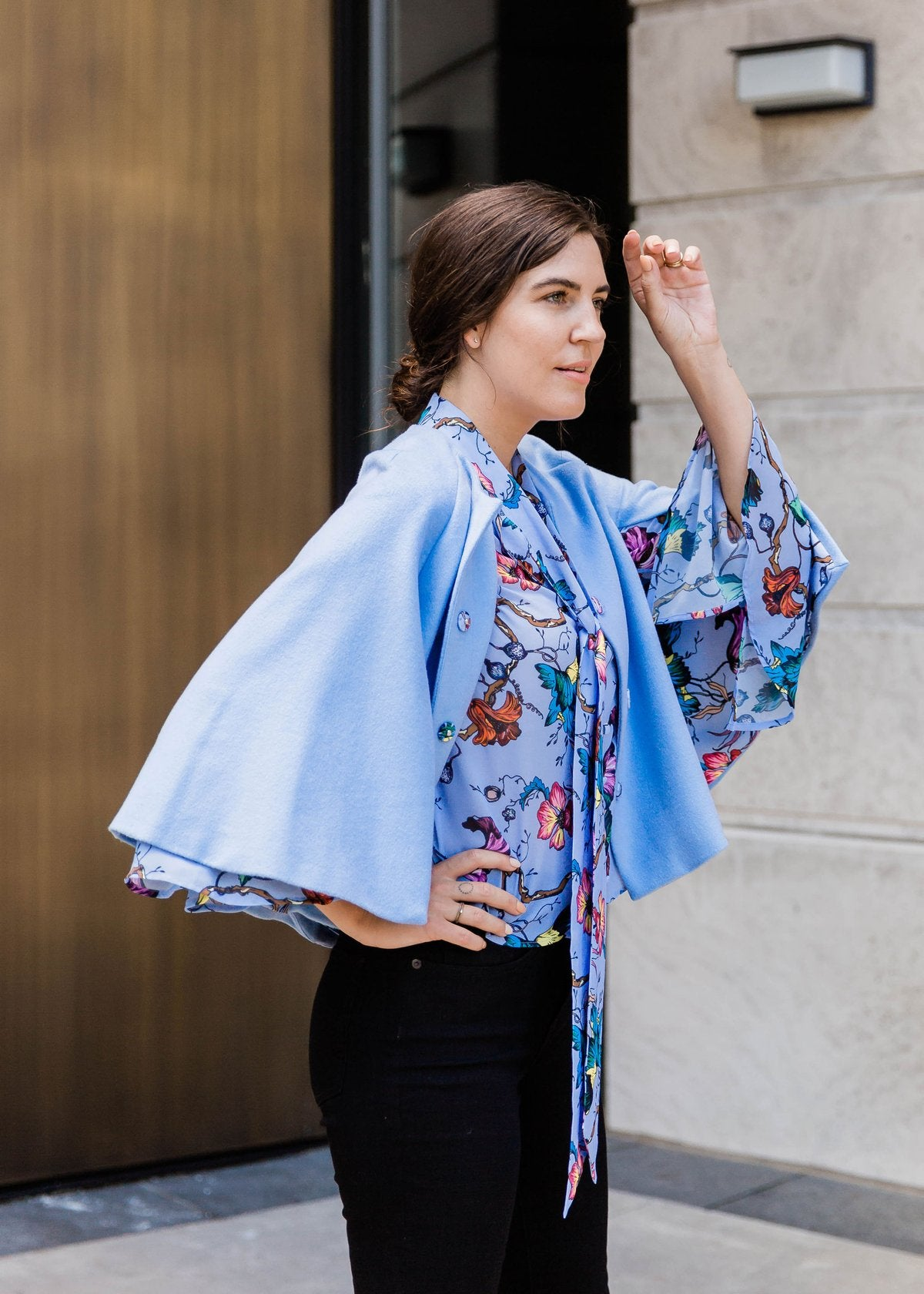 Floral Lined Cape