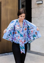 Load image into Gallery viewer, Floral Lined Cape