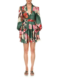 Green Multi Floral Dress