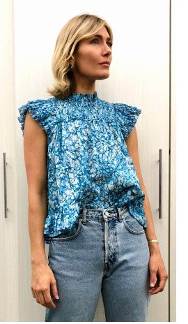 Martine Blue Top