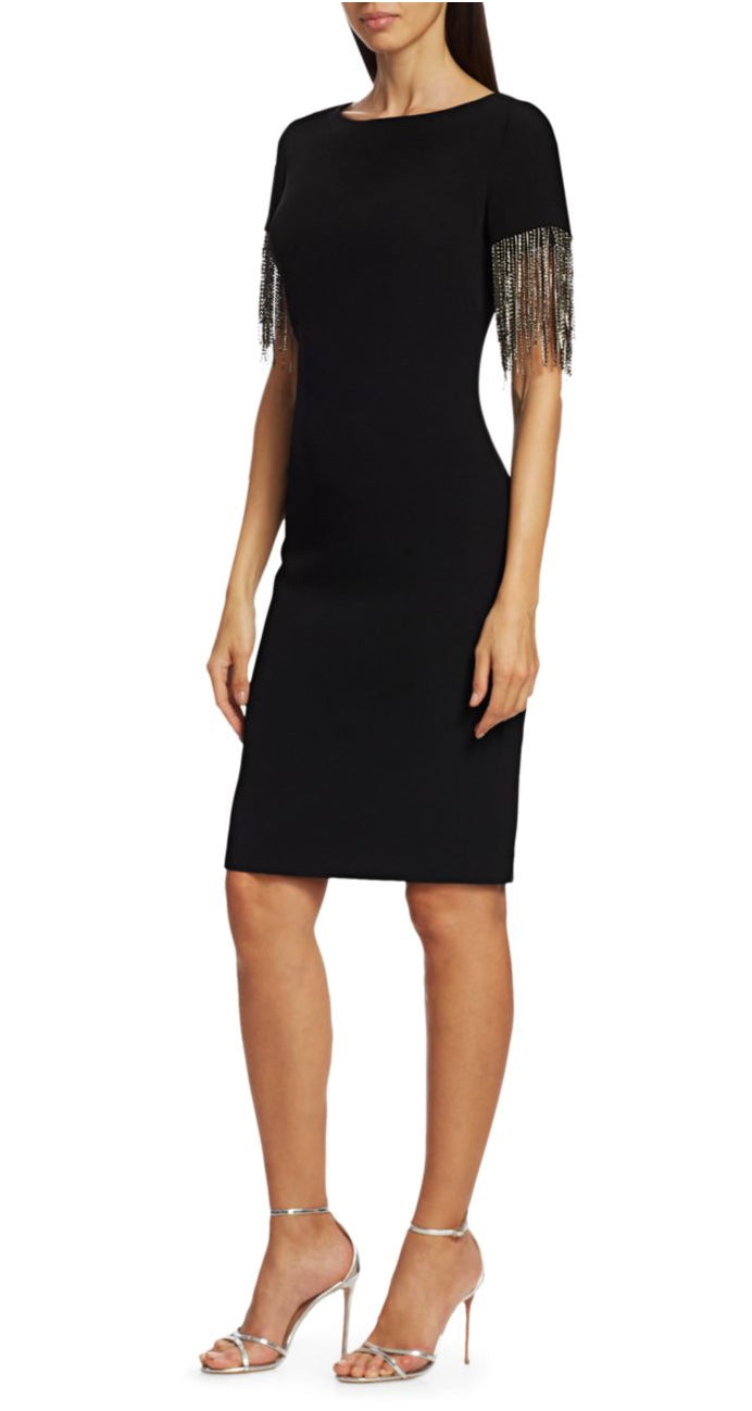 Crystal Sleeve Sheath Dress