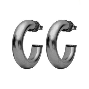 Gun Metal Chantal Hoops