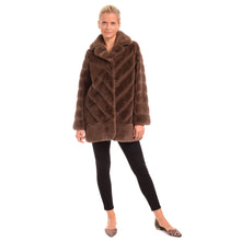 Load image into Gallery viewer, Ribbed Faux Fur Coat
