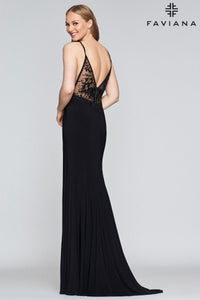 Illusion Side Gown