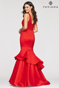 Tiered Mermaid Gown
